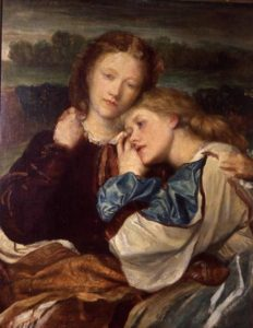 BBC209886 The Terry Sisters (oil on canvas) by Watts, George Frederick (1817-1904) oil on canvas Eastnor Castle, Herefordshire, UK English, out of copyright