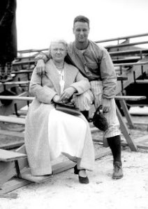 Lou Gehrig and his mother, Christina Fack